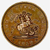 Bank of Upper Canada, penny token, 1850