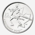 Figure Skating 25 cents coin - Vancouver