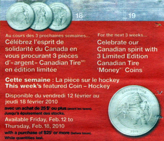 Canadian Tire Coins