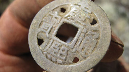 An old China coin discovered in Yukon