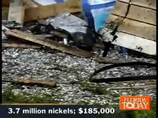 Deadly truck crash leaves 3.64 million 5 cents coins