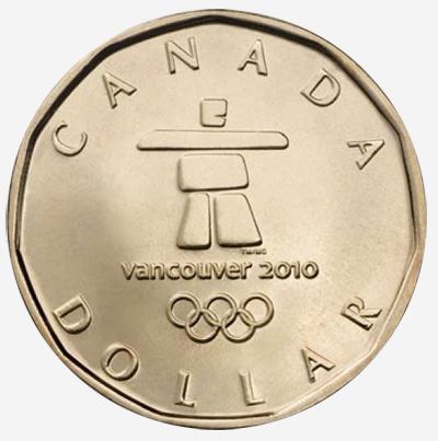 2010 Winter Games Lucky Loonie