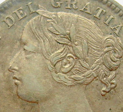 10 cents 1891 - Obverse # 6