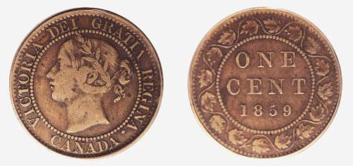 1 cent 1859 - Brass
