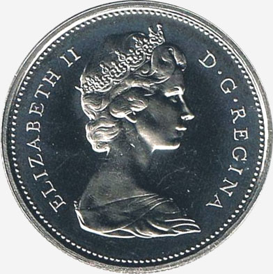 25 cents 1973 - Large bust