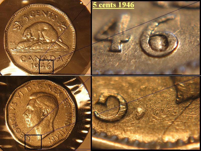 Coins And Canada Dots Errors And Varieties Of Canadian Coins