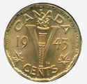 1 cent 1944 - Tombac