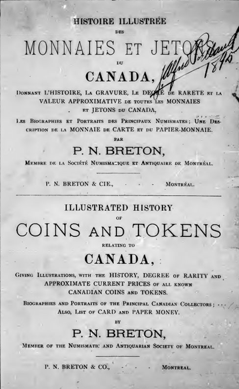 Illustrated History of Coins and Tokens relating to Canada