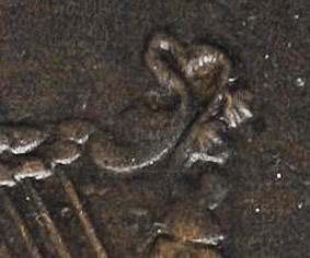 Bust and Harp - Lobe haut et rond - Jeton